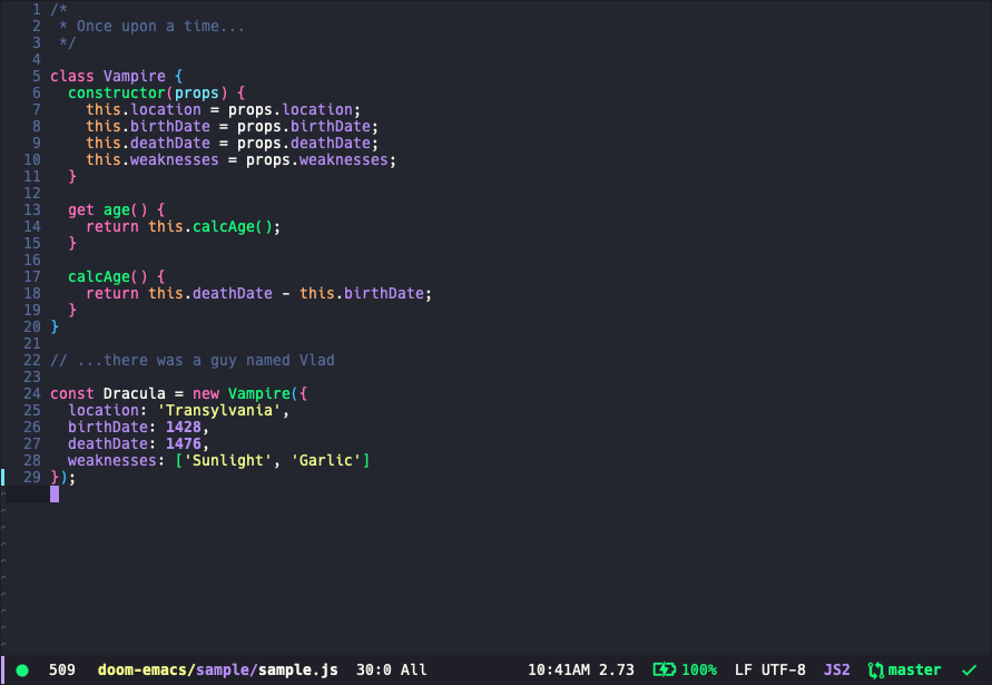 DOOM Emacs Theme Preview