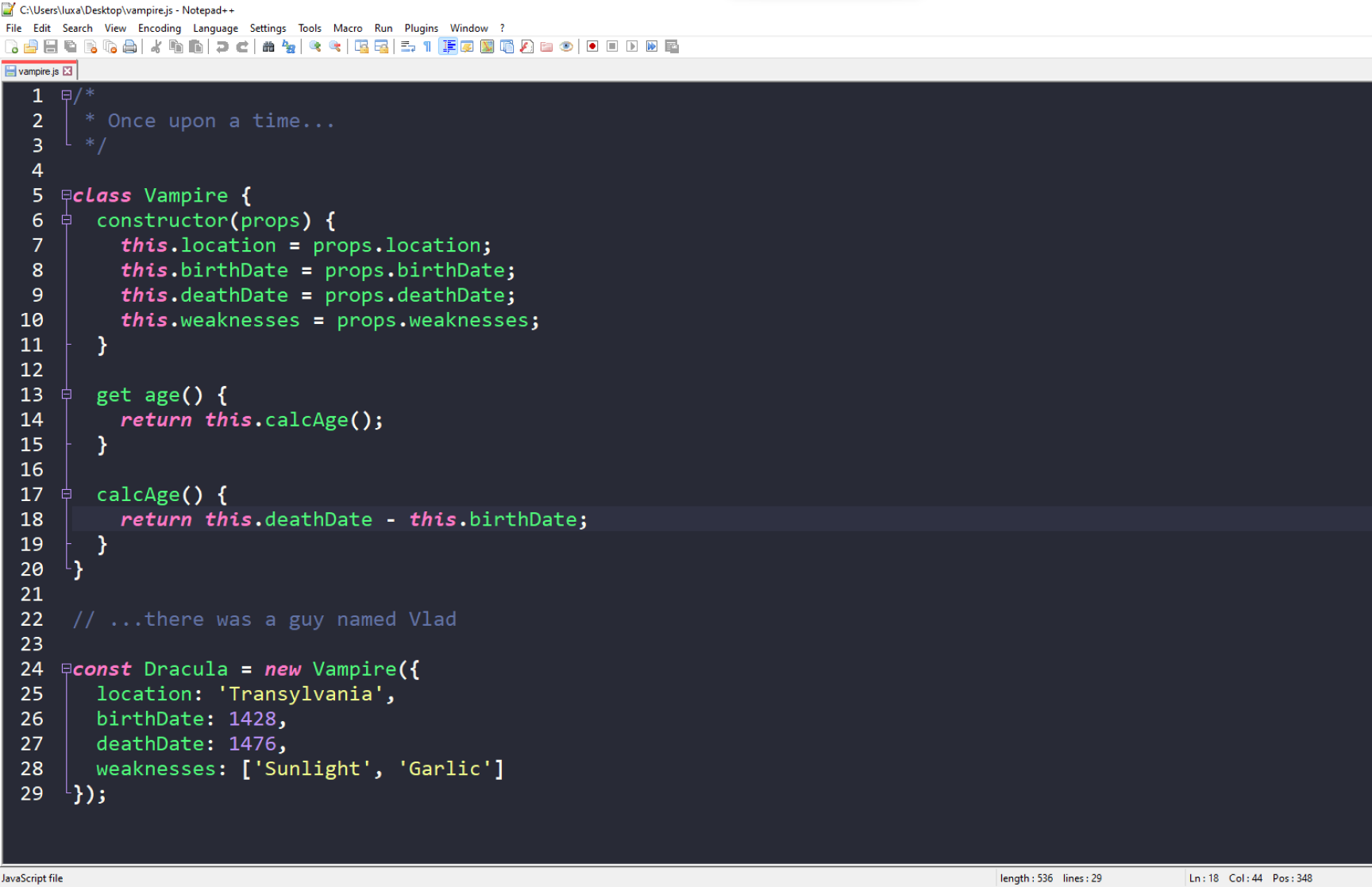Notepad++ Theme Preview