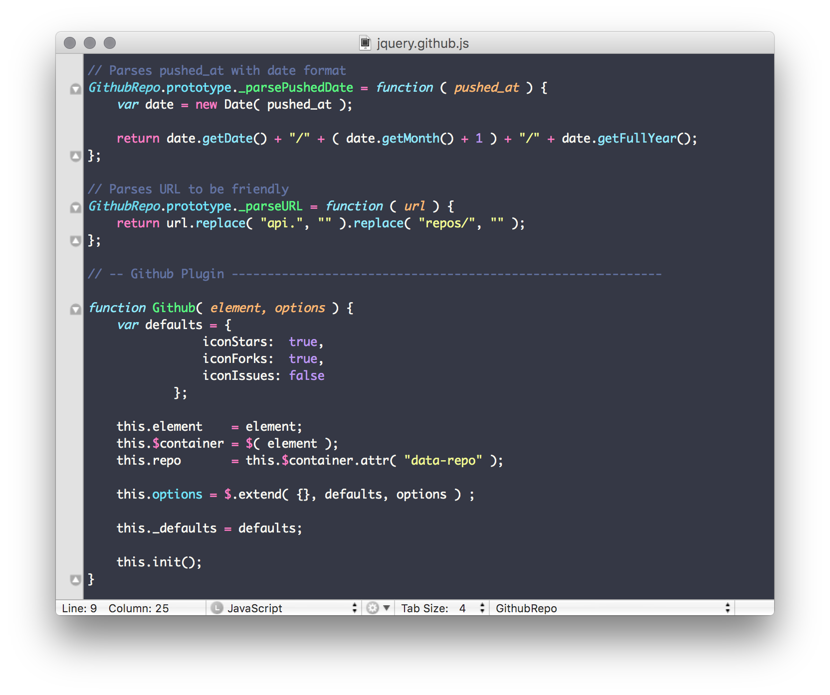 Textmate Theme Preview