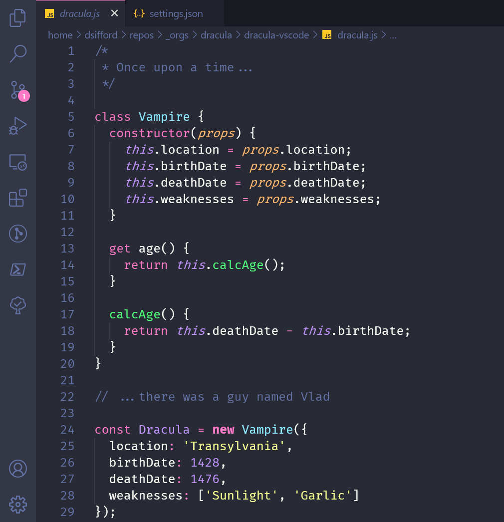 Visual Studio Code Theme Preview